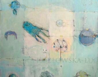 Sea/ Acrylic Painting/ Original Painting/ 50 cm x 50 cm