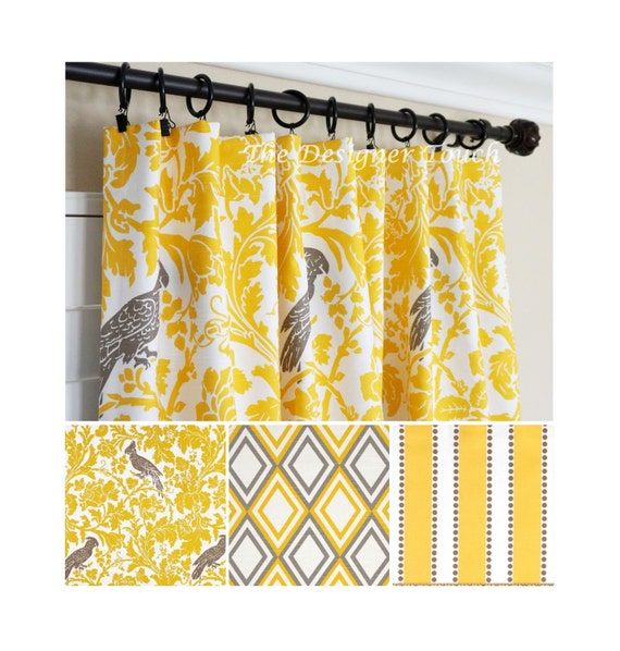 Yellow Window Curtains Yellow Brown Window Treatment Yellow