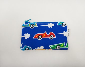 Racecar Boys Wallet, Kids Wallet, Kids Coin Purse, Toddler Wallet, Children's Wallet, Coin Pouch