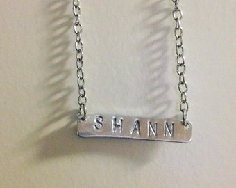 Stamped Name Plate - 4Letters