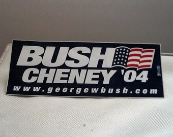 Bush-Cheney Bumper Sticker - 2004