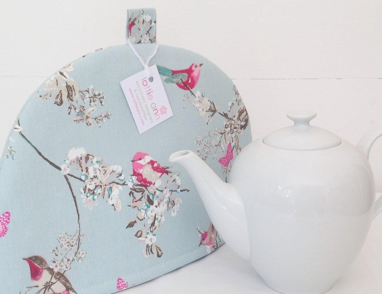 beautiful birds tea cosy pretty tea cosy by lottieanndesigns. Black Bedroom Furniture Sets. Home Design Ideas