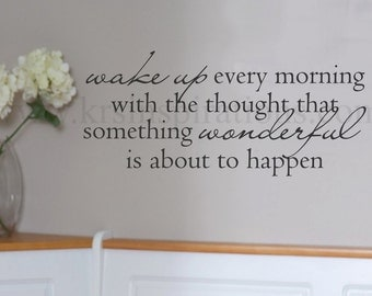 Wake Up Wonderful wall decal