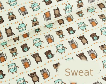 Fabric organic cotton Sweatshirt Stoffonkel