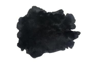 Rex Rabbit #1 Dyed Black: Grade AA Pelt Skin Hide