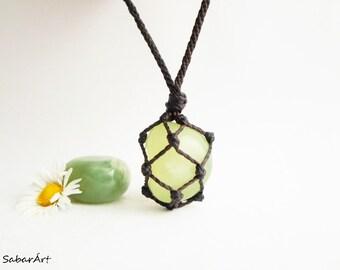 Serpentine necklace, serpentine pendant, mens necklace, chakra jewelry, mans pendant, green stone, serpentine jewelry