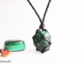 Malachite necklace, Malachite pendant, Malachite jewelry, Malachite jewellery, azurite, chrysocolla, green, chakra necklace, healing stone