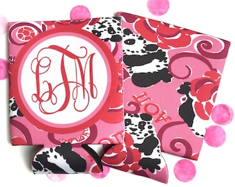 Lilly A O Pi Sorority Huggers.  Sorority Gifts, Monogram Huggers, Can Hugger, Big Little Sorority Gift