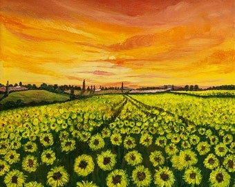 Summer Sunflowers - Blank Greeting Card
