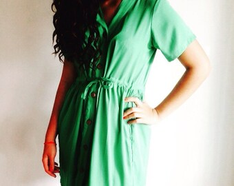 Bardez Shirt Dress in Mint