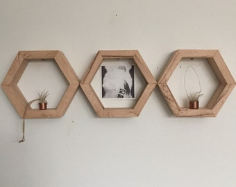 Specialty Honeycomb - Reclaimed Wood - Set of 3- [free shipping]