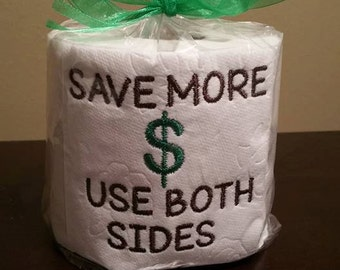 Embroidered toilet paper. FUNNY PAPER. Dirty Santa Gift. Gag gift.