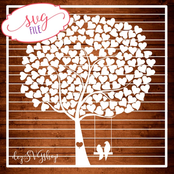 Wedding Tree Svg Full Wedding Guest Book Tree Tree By