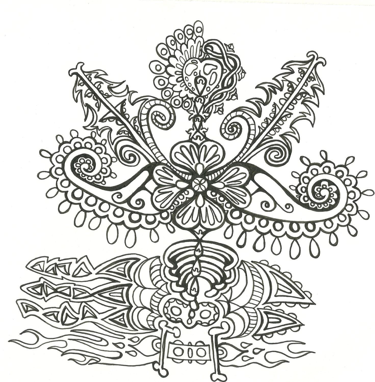 Adult Coloring Book Psychedelic Unique Designsdigital