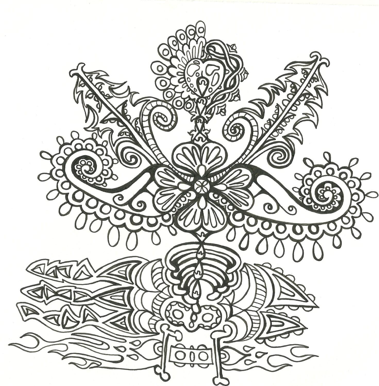 Adult Coloring Book- Psychedelic Unique Designs***digital download ...
