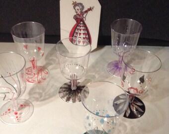 Alice in Wonderland Party Glasses