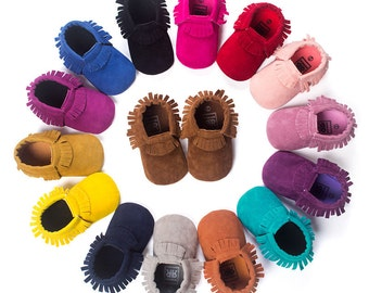 Baby Fashion Soft Sole Suede Shoes Toddler Infant Boy/Girl Tassel Moccasin
