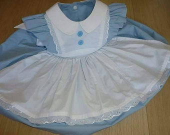 Alice in Wonderland girl's dress - Alice in Onederland first birthday outfit - everyday dress up costume (made to order; 6 months - 10 yrs)