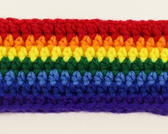 Rainbow Crochet Headband