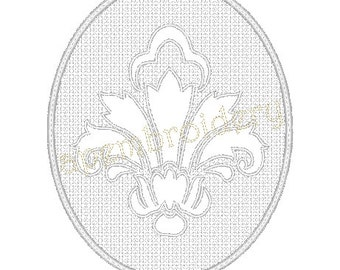 Embossed Damask Embroidery Design