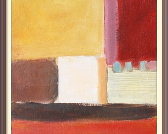 Abstract painting oil on wood  30cm X 30cm