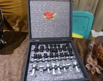 Steampunk Rose Chess Set