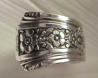 Spoon ring. Silverware ring. Fortune 1939. Art Deco spoon ring.