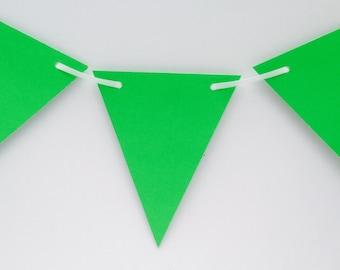 Green Bunting, Neon Bunting, Bright Bunting