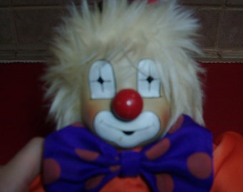 Vintage 15 inch clown doll