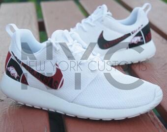 Arkansas Razorbacks Nike Roshe One Run Custom