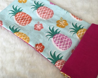 1 Personalized Pineapple Burp Cloth Welcome Burp Cloth Spit Rag Fruit Burp Cloth Fun Burp Cloth Trendy Spit Rag Gender Neutral