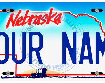 Personalized Custom Nebraska Car Vehicle License Plate Auto Tag