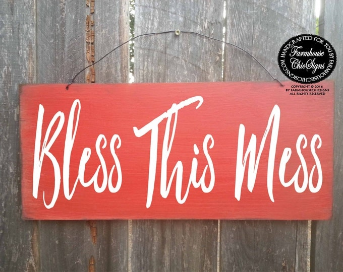 bless this mess, bless this home, blessed, bless this mess sign, bless this home sign, housewarming gift, new home gift