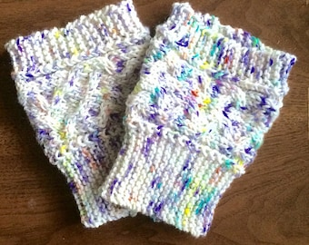 Speckles and Cables Boot Cuffs / Fall Boot Toppers, Cable Knit Boot Cuffs