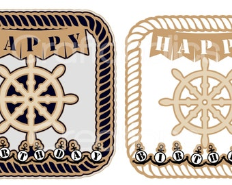 Nautical Rope Frame Topper SVG FCM & MTC formats included