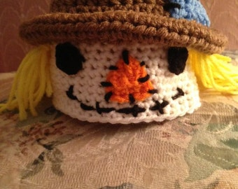 Newborn Crocheted scarecrow hat