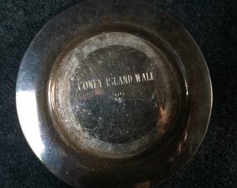 Vintage Coney Island Walk souvenir plate