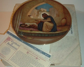 1988 Heritage House Healing the Sick Life of Christ Plate w/ COA and Box