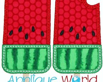 Watermelon Popsicles Applique Embroidery