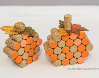 Wine Cork Pumpkin Centerpieces