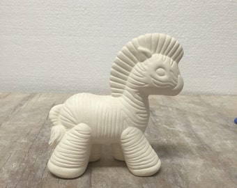Ceramic Bisque Gangbuster Zebra Ready to Paint