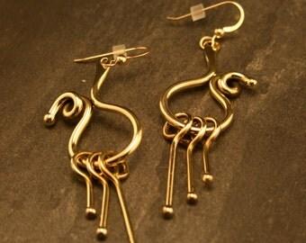 Funky Earrings: bronze dangle