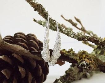 Large Lichen Drop Earrings