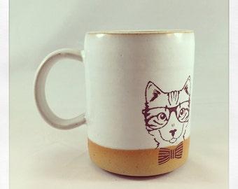 One Cultured Cat- cat mug