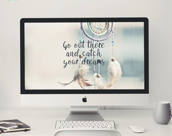 Desktop Background ~ Catch your Dreams 1920 x 1200 px ~ Quote, Affirmation, Dream Catcher, Computer Wallpaper, Quote Background, Goal Digger