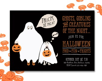Halloween Invitation, Invite Halloween, Halloween Party Invitation, Kids Halloween Party, Printable Halloween Invitation, Motif Visuals