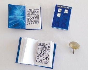Miniature Book - Dr Who inspired diary with quotes