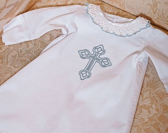 Baptism gift Christening gown Christening baby cotton shirt Baby outfit Baptism outfit for boy Boys christening outfit White Baptism onesie