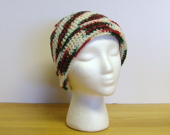 Christmas Shimmer Hat with Turn-up Brim