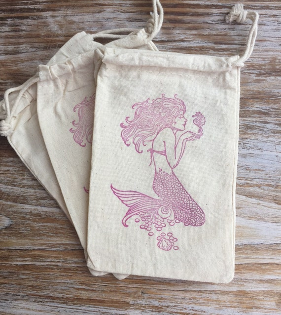 Wedding Gift Bags Beach Theme : favor bags, mermaid party favors, beach wedding favor bags, beach ...